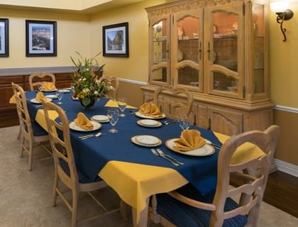 Private dining at Saint George senior living.