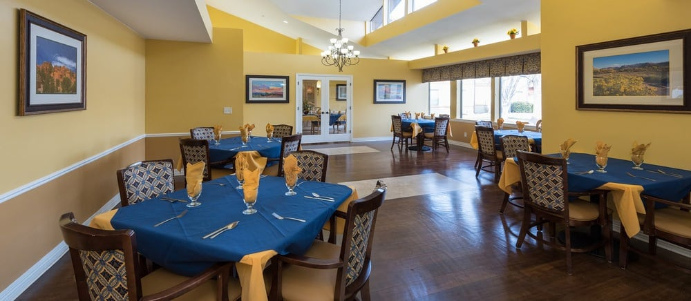 Additional elegant dining in Saint George senior living.