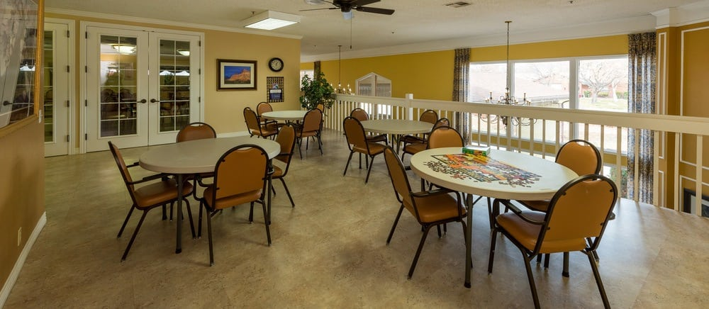 Common area in Saint George senior living.