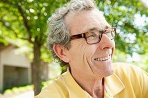 Senior living in Saint George shows a resident enjoying some sunshine