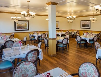 Elegant dining at Salt Lake City senior living.