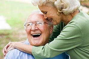 Happy couple enjoying spending time together at the senior living in Sandy