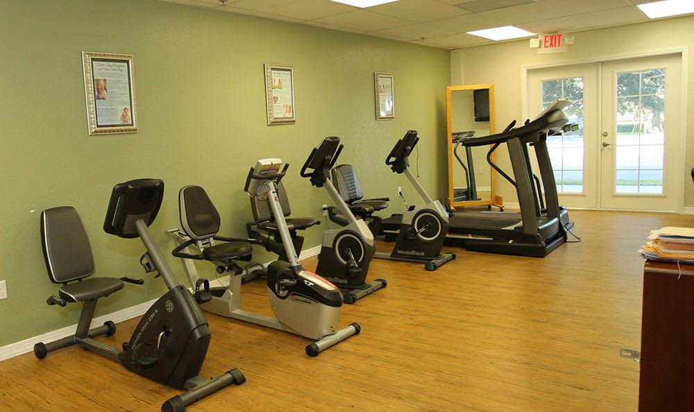 Exercise room at Brentwood at St. Pete
