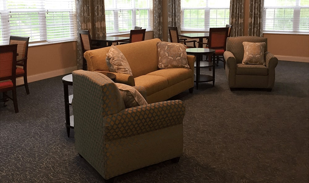 There are plenty of spaces to meet new friends at Brookridge Heights in Marquette