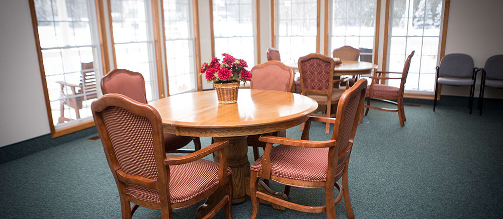 Senior living in Cadillac includes an activity room.