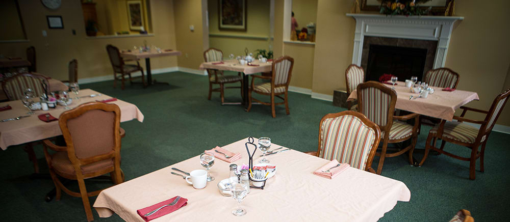Dining hall at Curry House