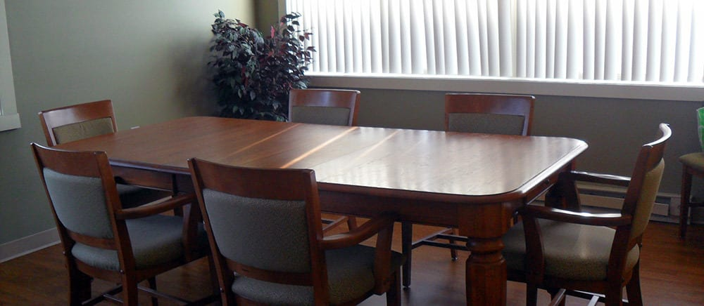 A fancy table for residents at Gardenview