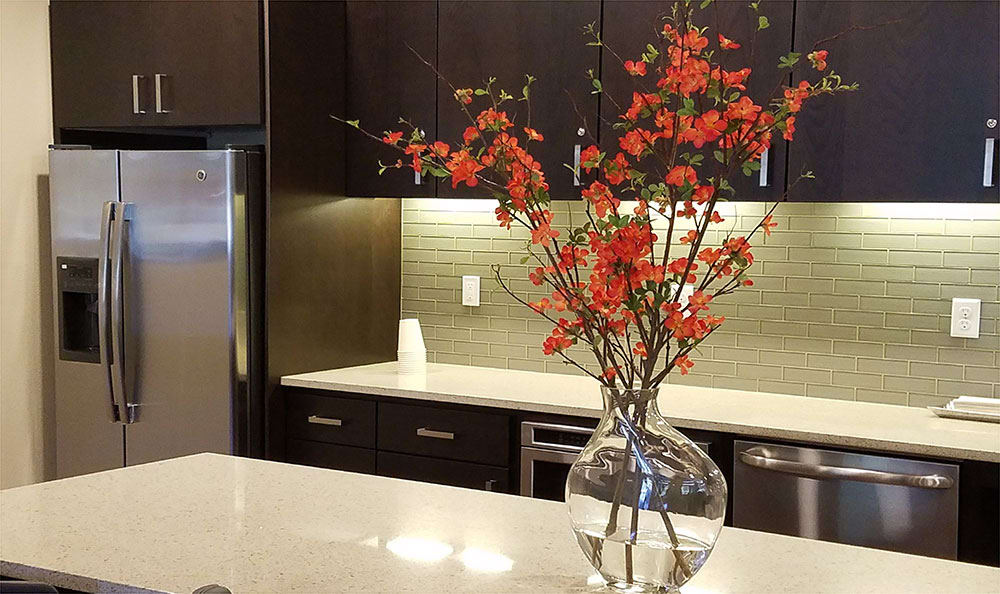 Kitchen amenities at The Lofts at Glenwood Place