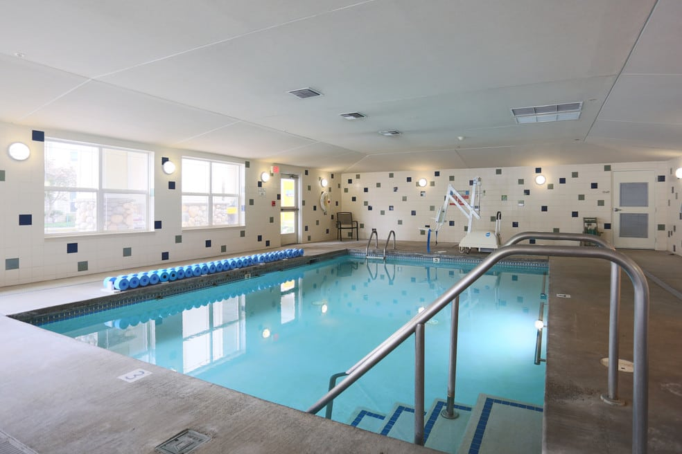 Take a dip in the pool at The Lofts at Glenwood Place