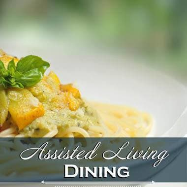 Assisted living dining options at The Quarry Senior Living