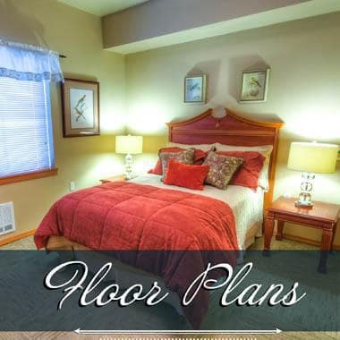 Assisted living floor plans at The Quarry Senior Living