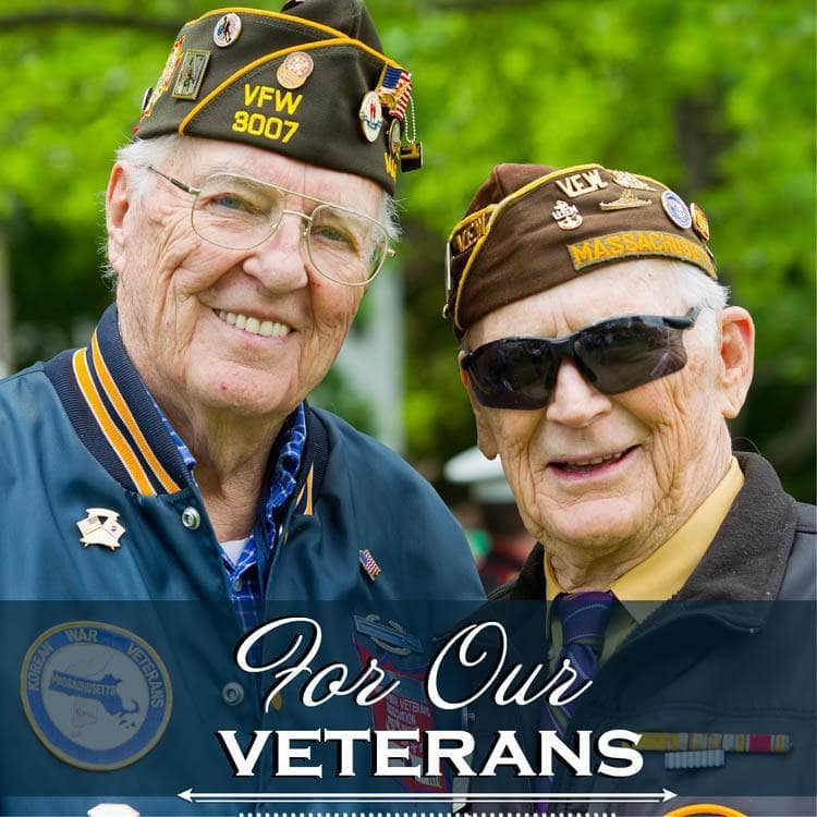 For our Harbour Pointe Senior Living veterans