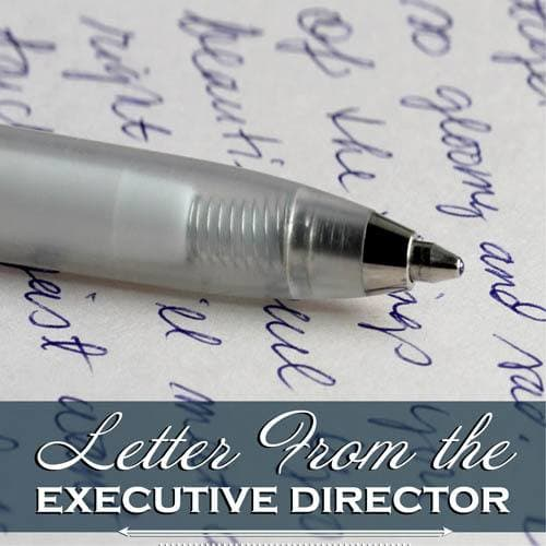 Letter from Cascade Valley Senior Living's executive director