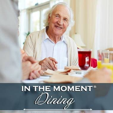 Memory care dining options at Almond Heights Senior Living