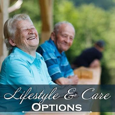 Lifestyle and care options at The Quarry Senior Living