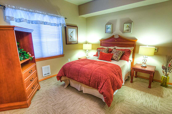 The Lodge apartment bedroom