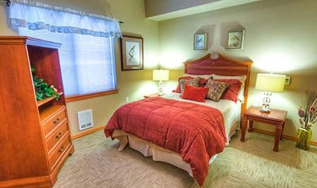 Bedroom at Pheasant Ridge Senior Living