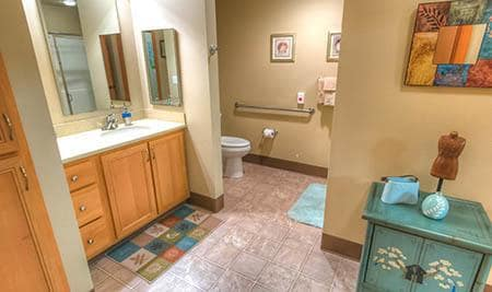 The Quarry Senior Living bathroom