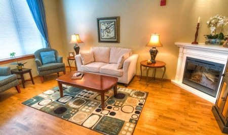 The Quarry Senior Living living room