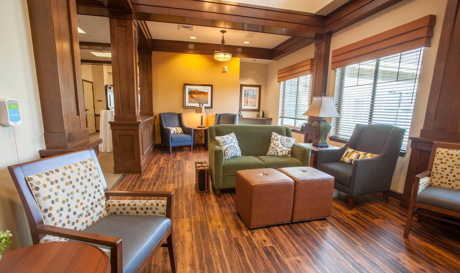 Cozy community area at Lakewood Memory Care in Lakewood