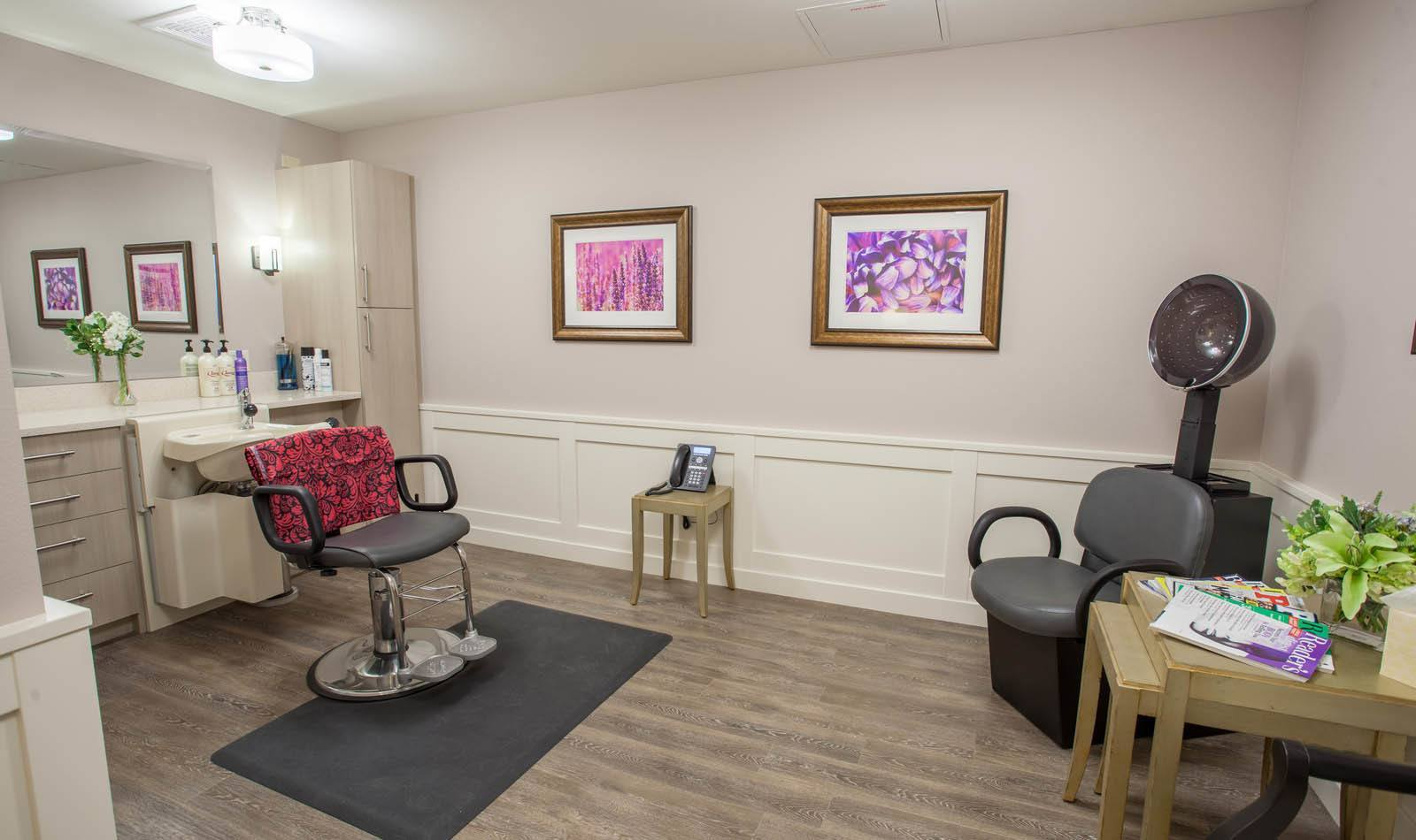 Wonderful salon at Lakewood Memory Care in Lakewood