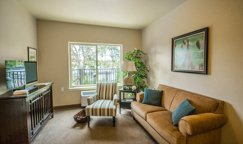 Feel at home in your own living room at Almond Heights Senior Living