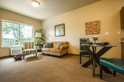 Living room at Almond Heights Senior Living