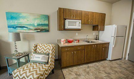 Almond Heights Senior Living Kitchen in unit