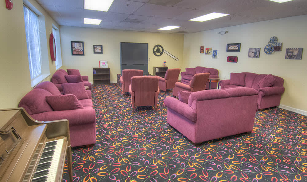 Screening Room at Caley Ridge Assisted Living
