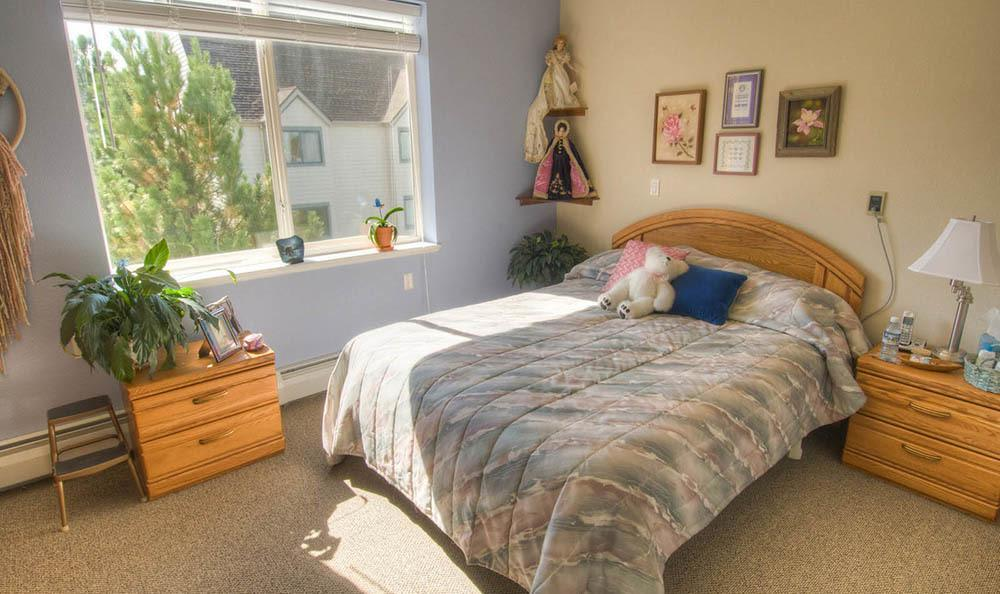Spacious Bedroom at Caley Ridge Assisted Living