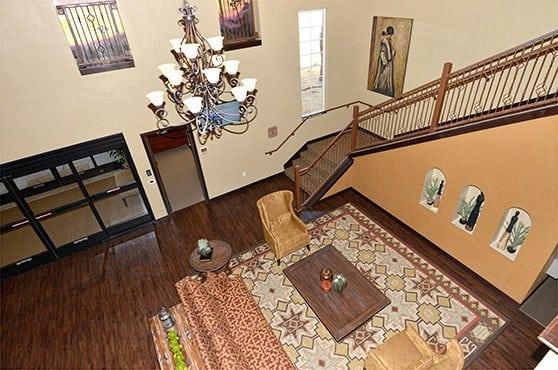 Lobby aerial view at Caliche Senior Living in Casa Grande