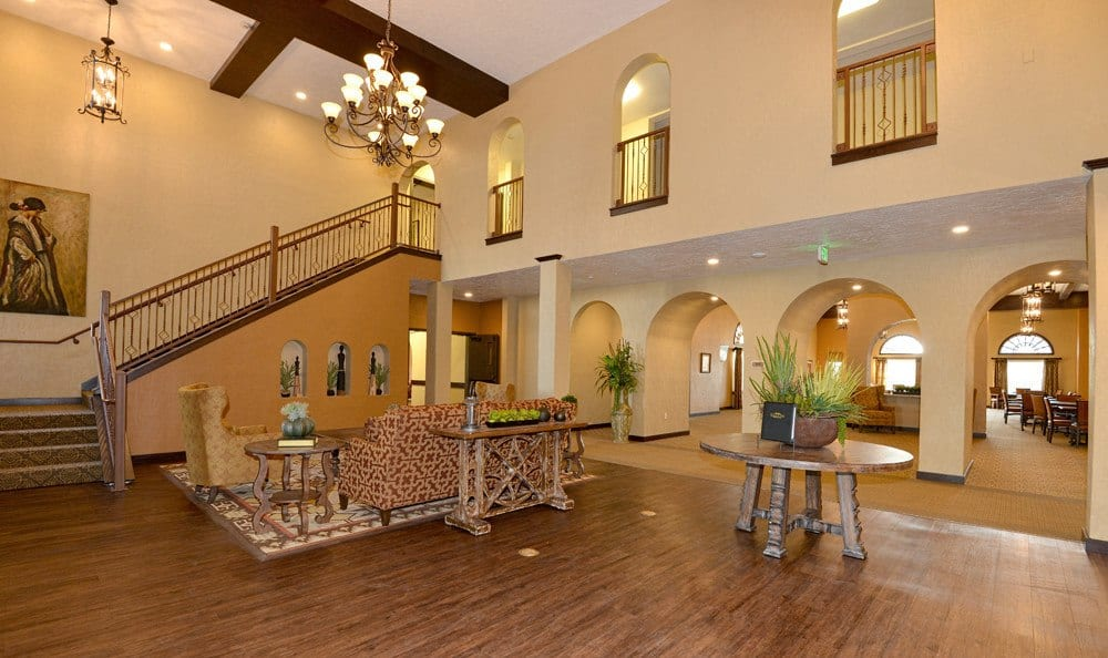 Lobby at Caliche Senior Living in Casa Grande.