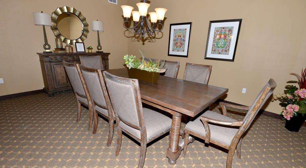 Private Dining Room at Caliche Senior Living in Casa Grande.