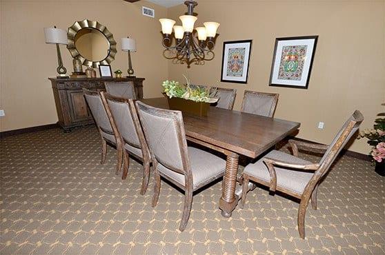 Private Dining Room Caliche Senior Living in Casa Grande