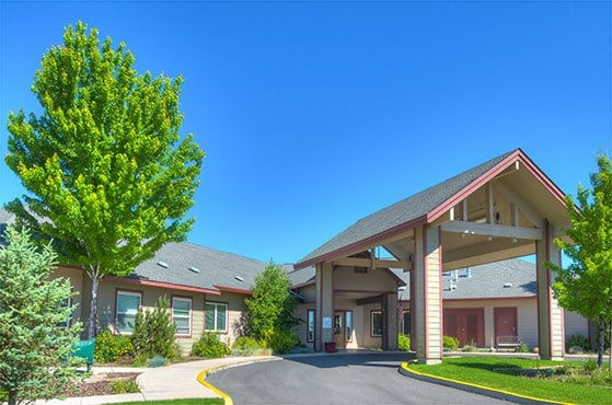 Gorgeous entryway at Eagle Lake Village Senior Living in Susanville