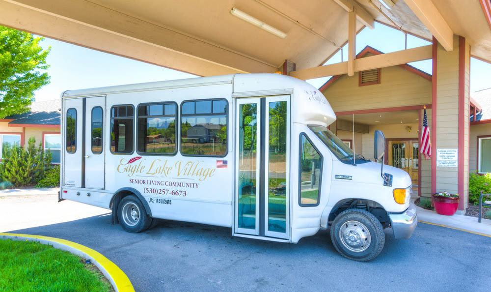 Community transportation At Eagle Lake Village Senior Living.