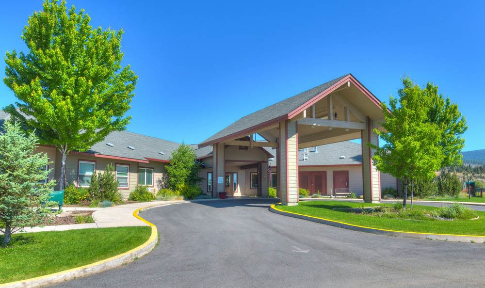 Front Entrance at Eagle Lake Village Senior Living in Susanville.