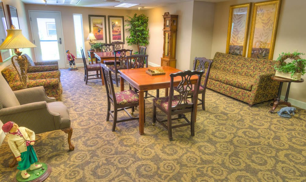 Eagle Lake Village Senior Living Large Gameroom in Susanville.