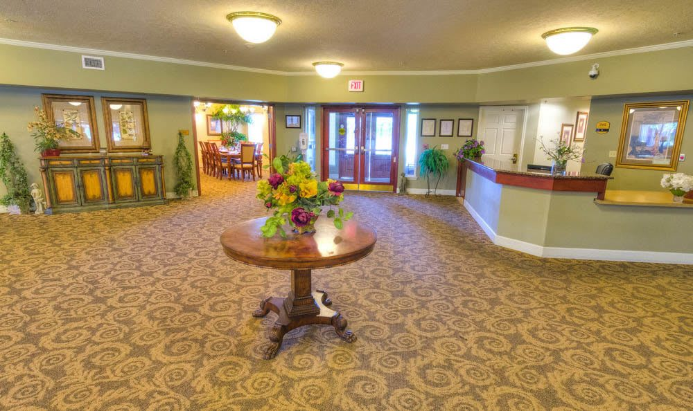 Large Couches And Lounge Area At Eagle Lake Village Senior Living in Susanville.