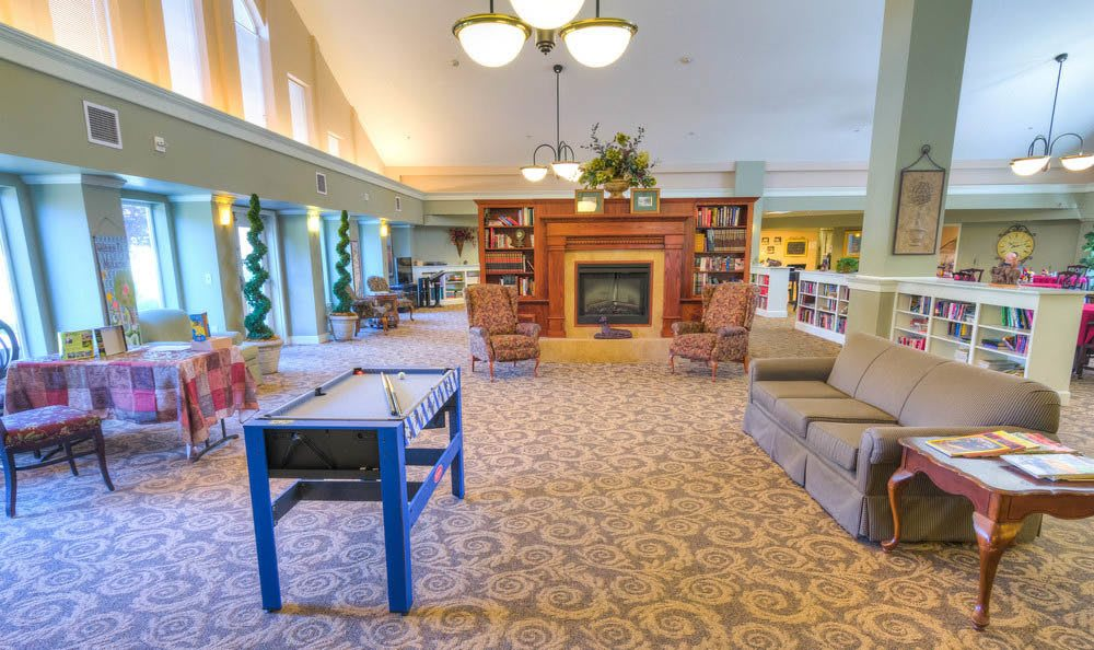 Large Lodge Activity Room At Eagle Lake Village Senior Living.
