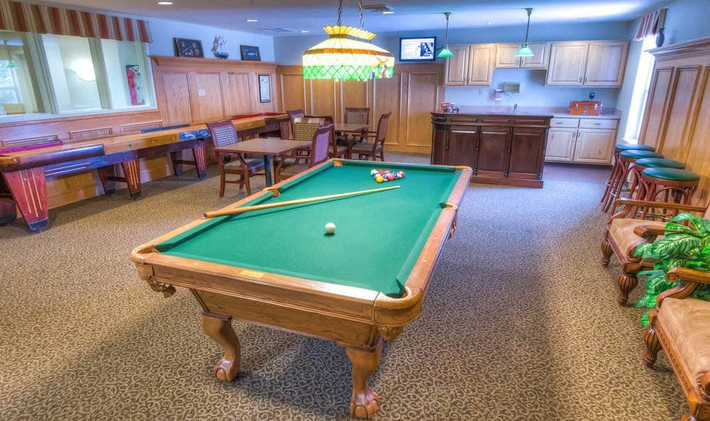 Glenwood Place Senior Living Billiards Table in Vancouver.