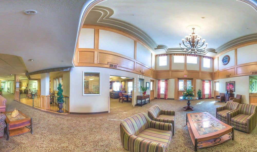 Spacious Lobby At Glenwood Place Senior Living in Vancouver.