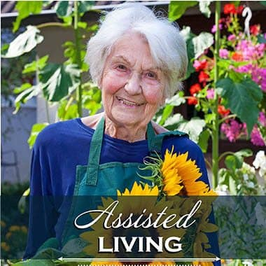 Assisted living resident at Joshua Springs Senior Living