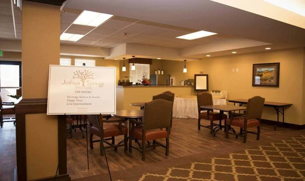 Large Bistro at Joshua Springs Senior Living in