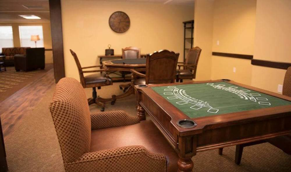 Game area At Joshua Springs Senior Living.
