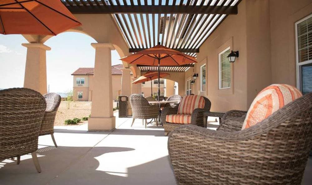 Joshua Springs Senior Living Large patio