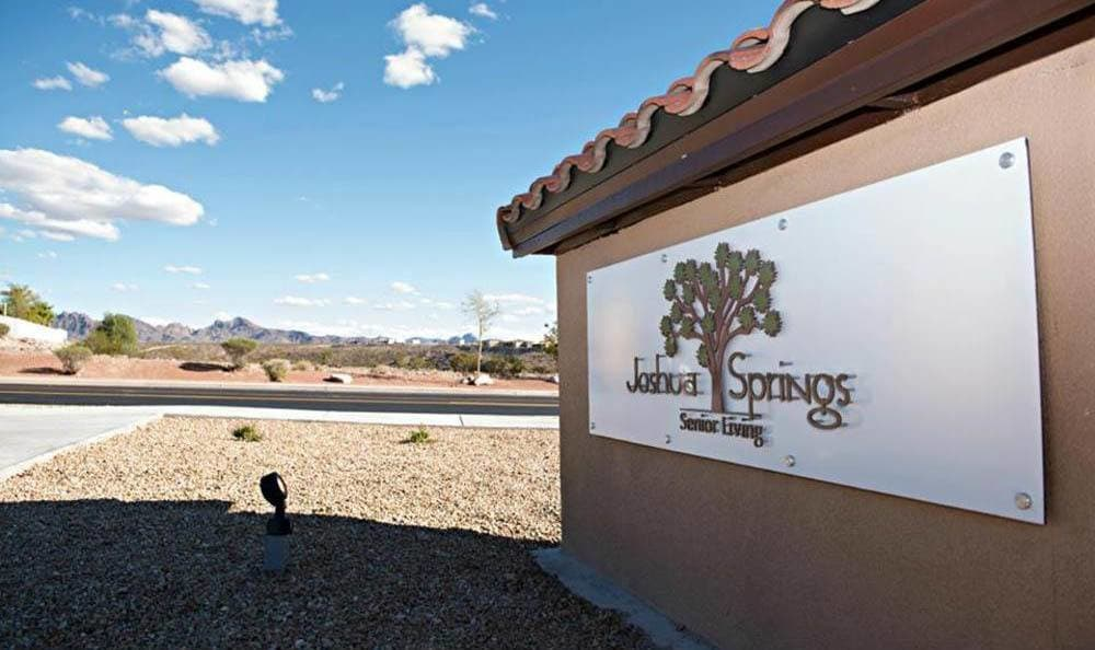 Joshua Springs Senior Living Front property sign in Bullhead City.