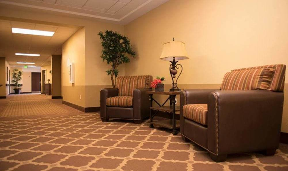 Joshua Springs Senior Living spacious sitting area in Bullhead City.
