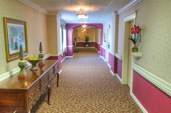 Hallway at Mansion at Waterford Assisted Living