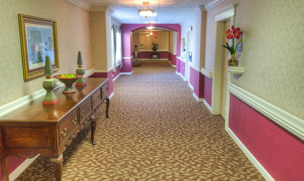 Mansion at Waterford Assisted Living Interior Hallway in Oklahoma City.